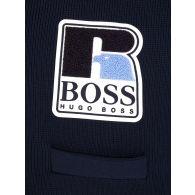 BOSS x Russell Athletic Dark Blue Krussel Knit Cardigan