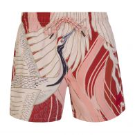 HUGO Red/Cream Miso Quick-Dry Swim Shorts