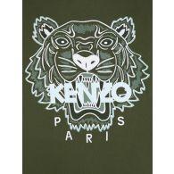 KENZO Green Tiger Head Logo Sweatshirt