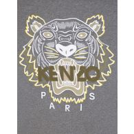 KENZO Grey Tiger Head Logo Sweatshirt