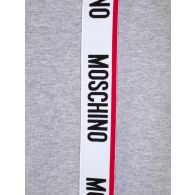 Moschino Grey Tape Logo Shoulder Sweatshirt
