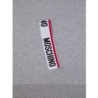 Moschino Grey Logo Tape Hooded Zip-Through