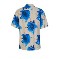 Paul Smith Blue Tailored Fit 'Monarch Rose' Shirt