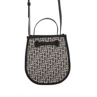 KENZO Black/Grey Courier Jacquard Bucket Bag