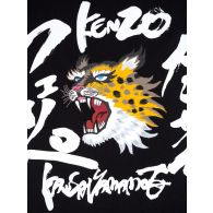 KENZO x Kansai Yamamoto Black Roaring Cheetah Dress