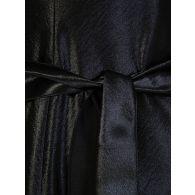 Philosophy Di Lorenzo Serafini Black Satin Plunge Mini Dress