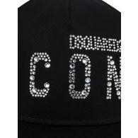 Dsquared2 Black Diamante ICON Cap