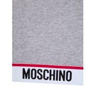 Moschino Grey Logo Tape Hooded Dress