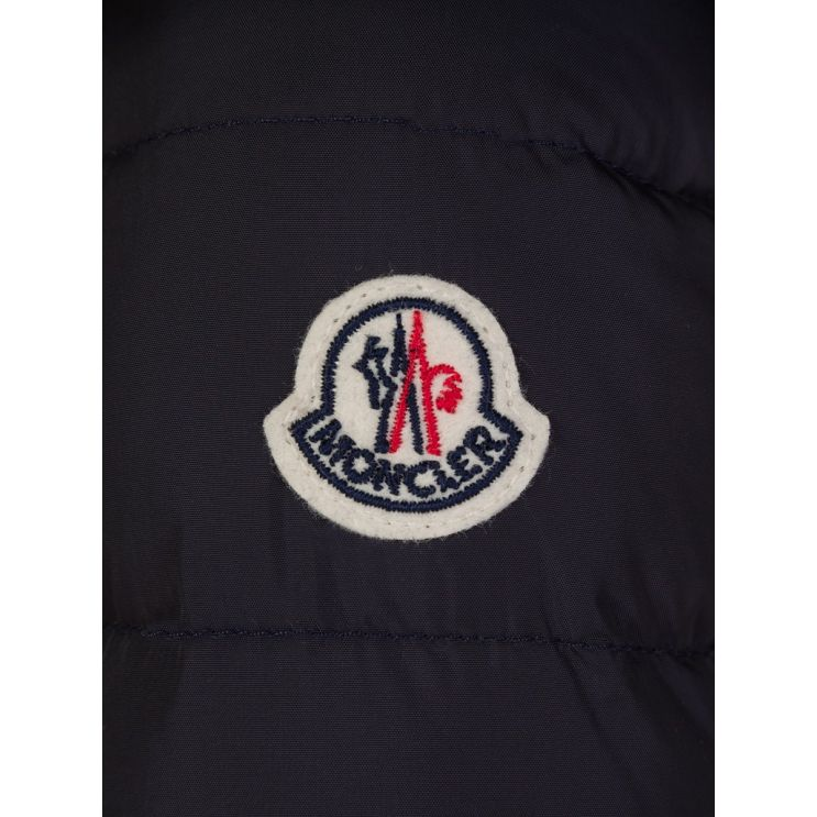 Moncler Enfant Navy Down Padded Coat