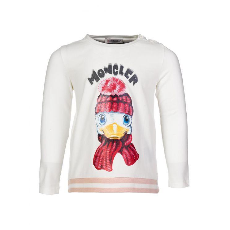 Moncler Enfant White Duck T-Shirt