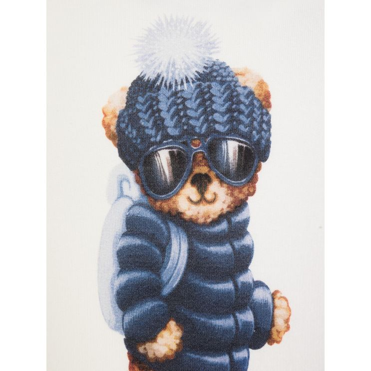 Moncler Enfant Cream Babygrow and Hat Set