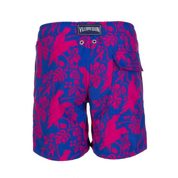 Vilebrequin Junior Blue Cacatoes Swim Shorts