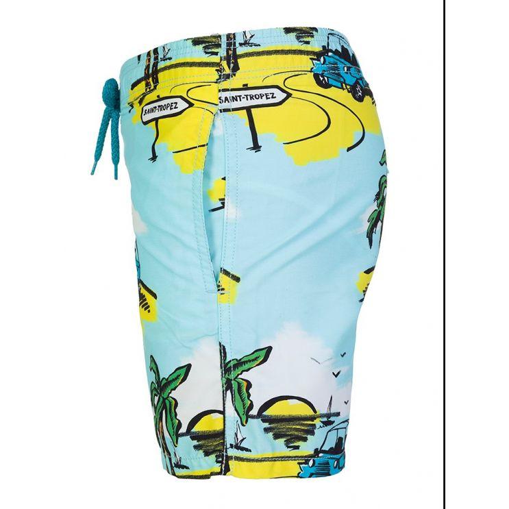 Vilebrequin Junior Blue Sunny Car Swim Shorts