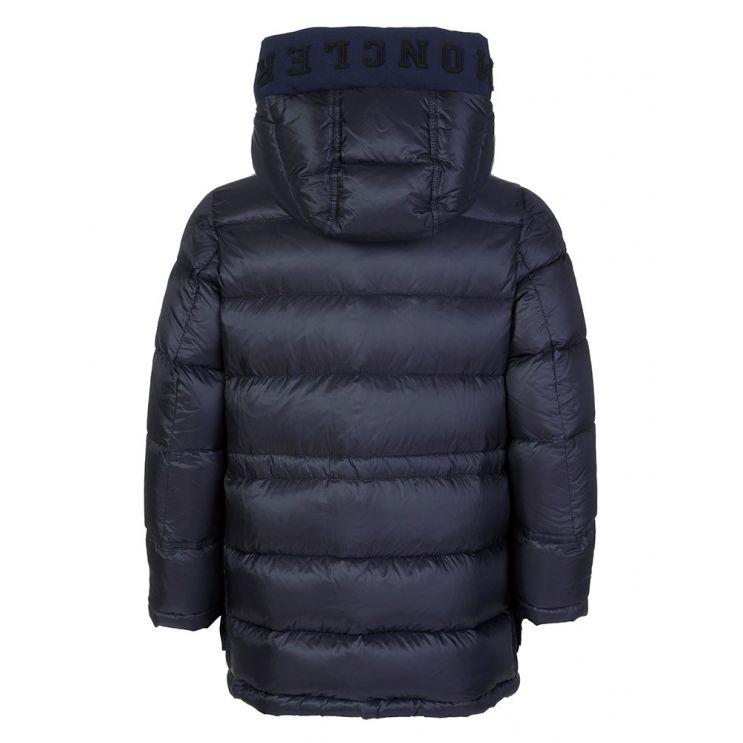 Moncler Enfant Navy Jourdan Hooded Puffer Coat