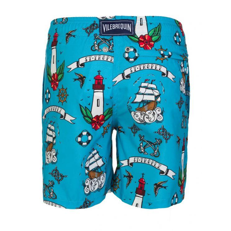 Vilebrequin Junior Blue Tattoo Swim Shorts
