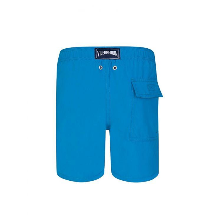 Vilebrequin Junior Blue Shellfish & Turtles Water-Reactive Swim Shorts