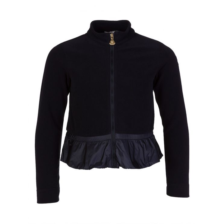 Moncler Enfant Navy Fleece Zip Cardigan