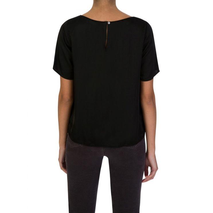 Velvet by Graham & Spencer Black Short-Sleeve Top