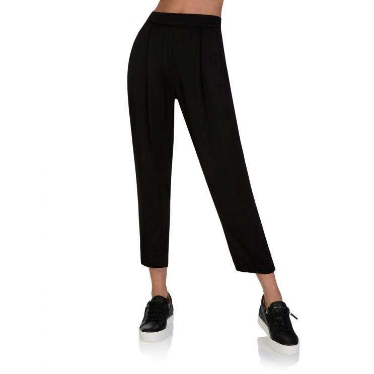 Velvet by Graham & Spencer Black Hillary Pleat Trousers