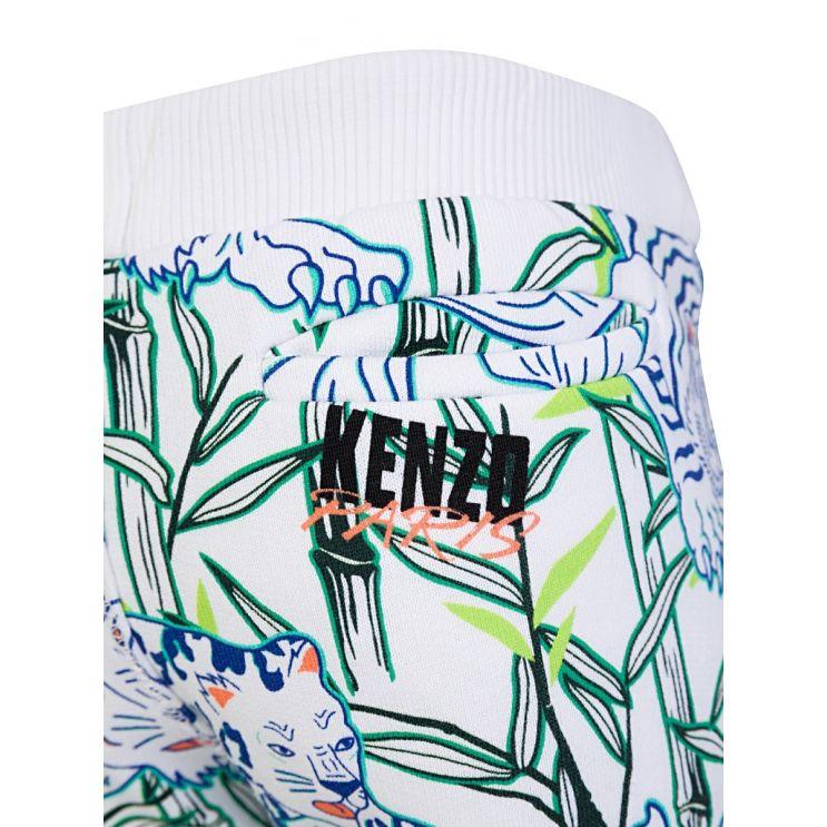 KENZO Kids White Disco Jungle Shorts