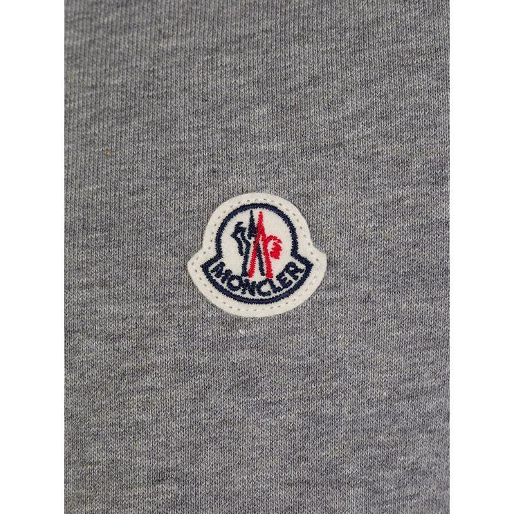 Moncler Enfant Grey Tape Logo Tracksuit
