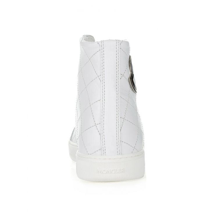 Moncler White Isabela Stitched Trainers