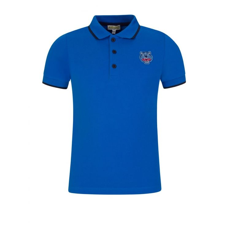 KENZO Kids Blue Tiger Polo Shirt
