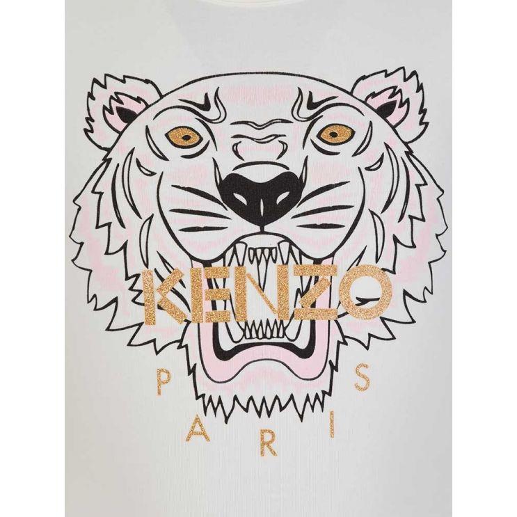 KENZO Kids Cream Tiger Long Sleeve T-Shirt