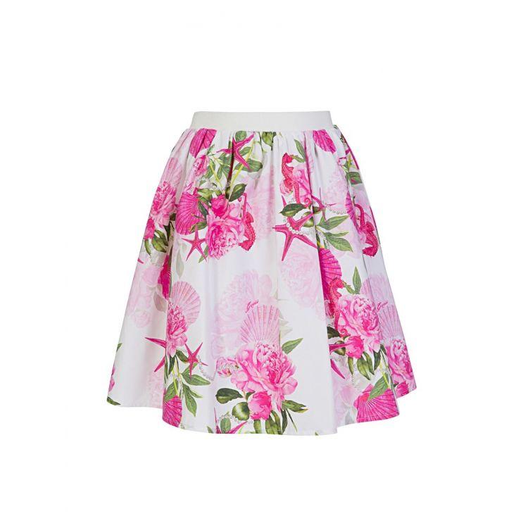 GUESS Kids Pink Floral Midi Skirt