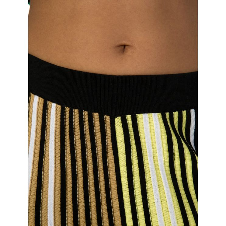 KENZO Black Pleated Colour-Block Knit Trousers