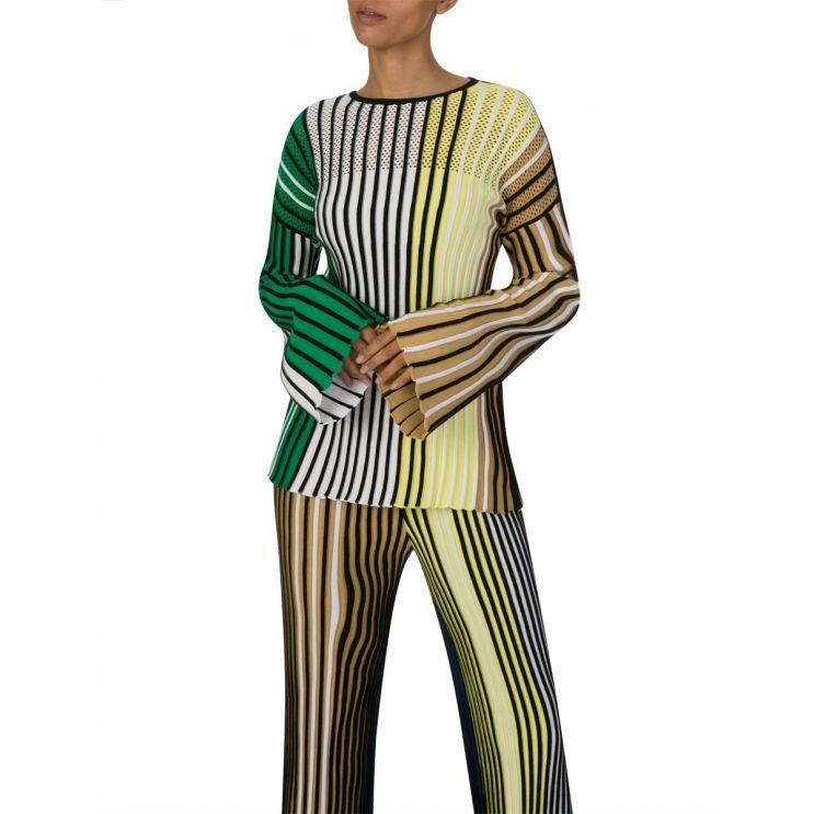 KENZO Black Stripe Rib-Knit Jumper