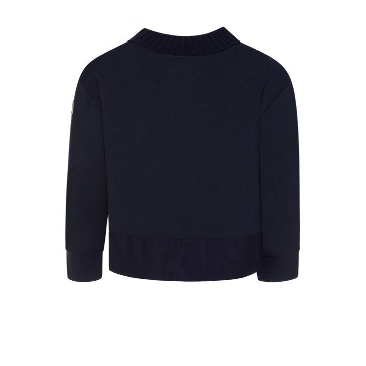 Moncler Enfant Navy Flap Logo Sweatshirt
