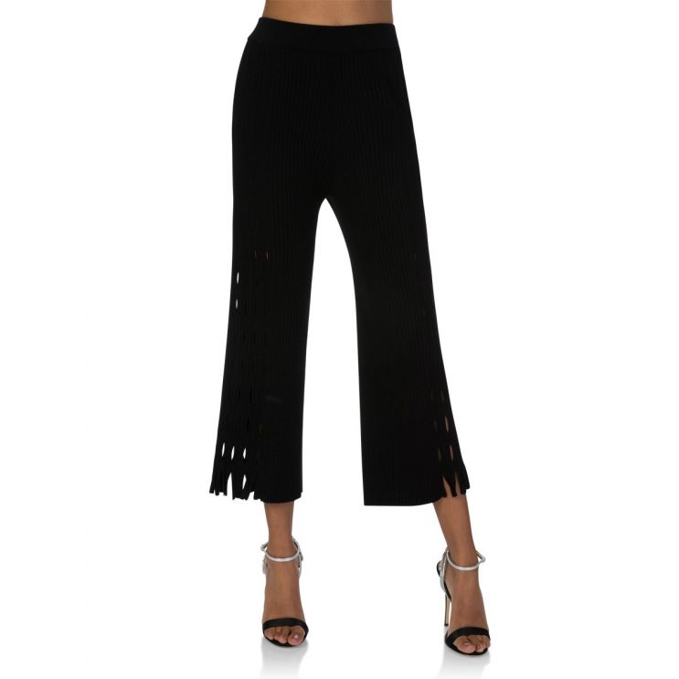KENZO Black Knitted Lace Hole Trousers