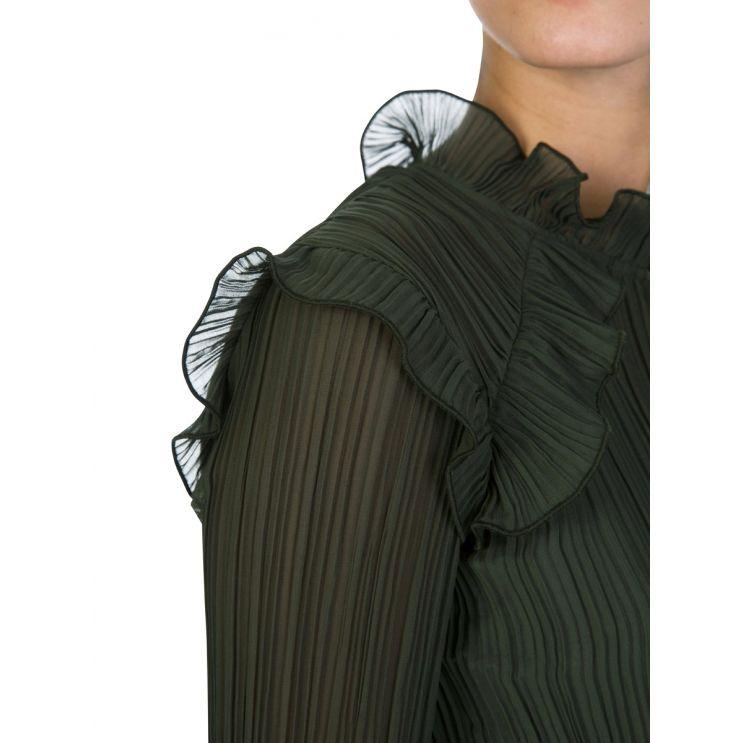 KENZO Green Soft Long-Sleeved Dress