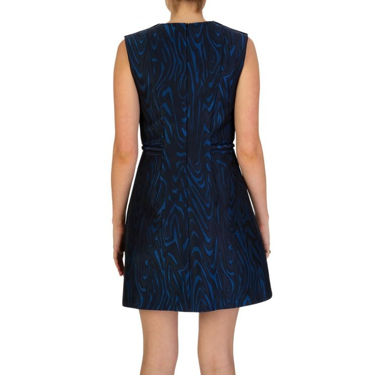 KENZO Navy Structured Fit & Flared Dress