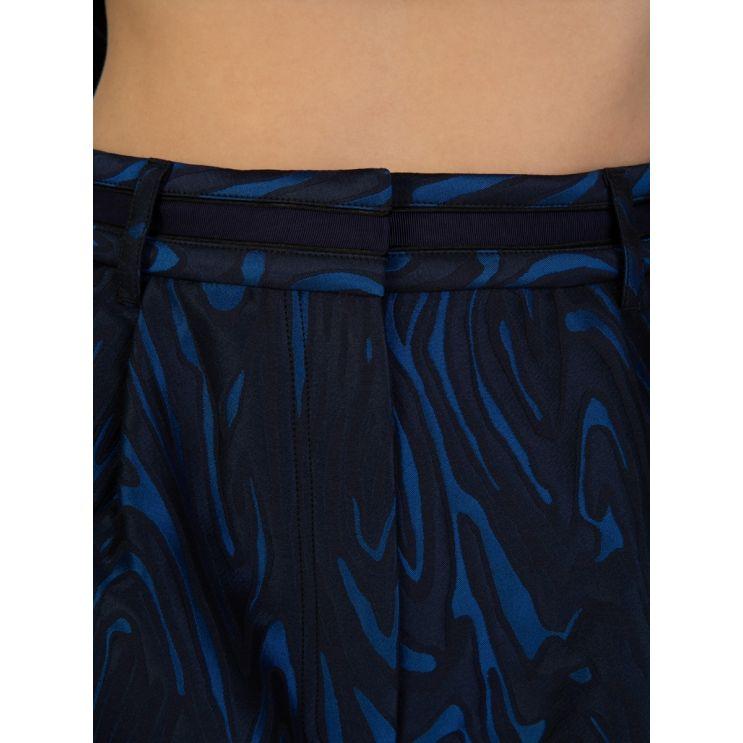 KENZO Black/Navy High-Waisted Shorts