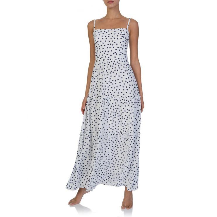 Heidi Klein White Polka Dot Dress