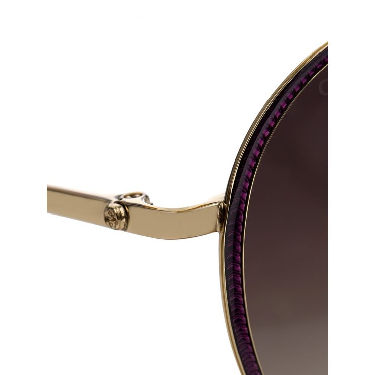 Gucci Gold Circular Metal Sunglasses