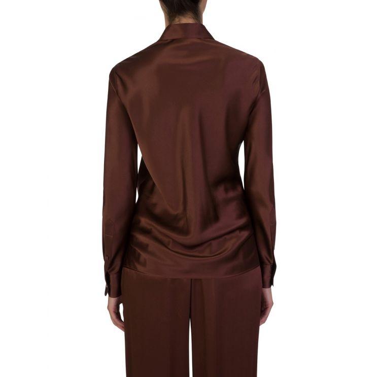 Joseph Brown Copper Silk Shirt
