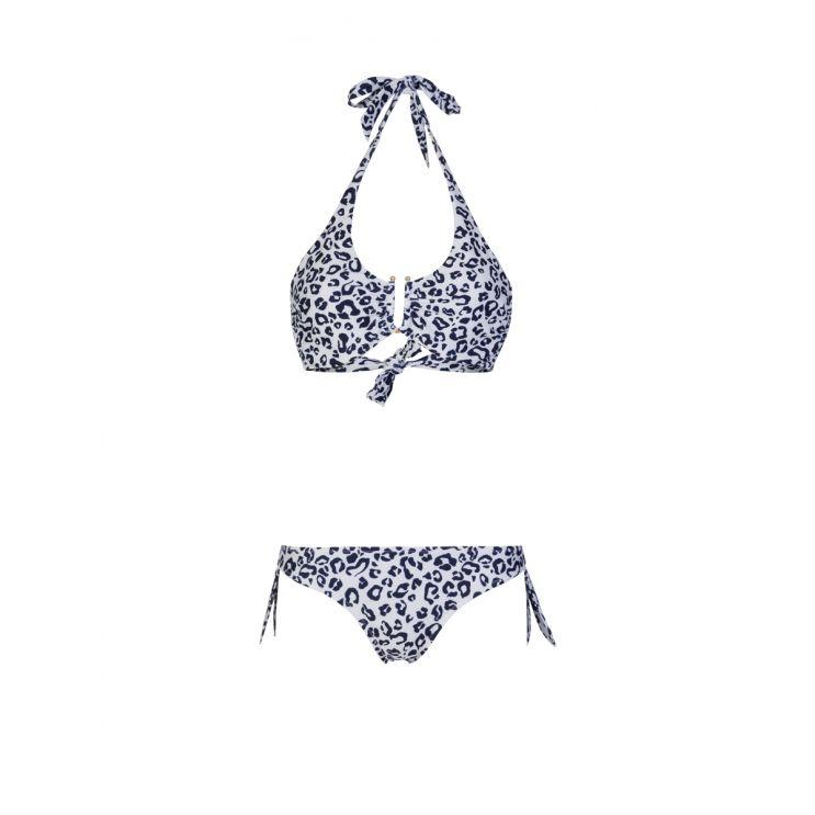 Heidi Klein Navy Tanzania Leopard Print Bikini Bottoms