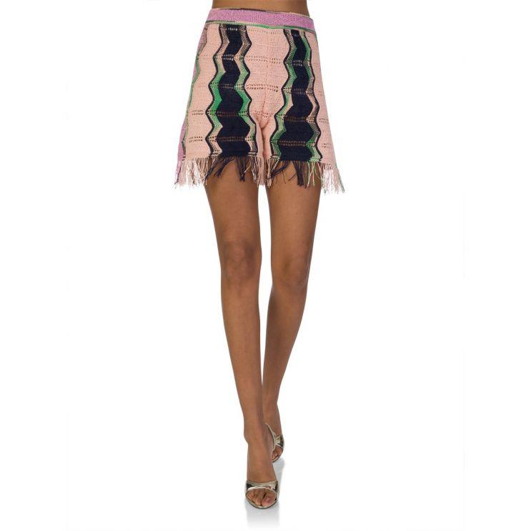 M Missoni Pink Knit-Pattern Shorts