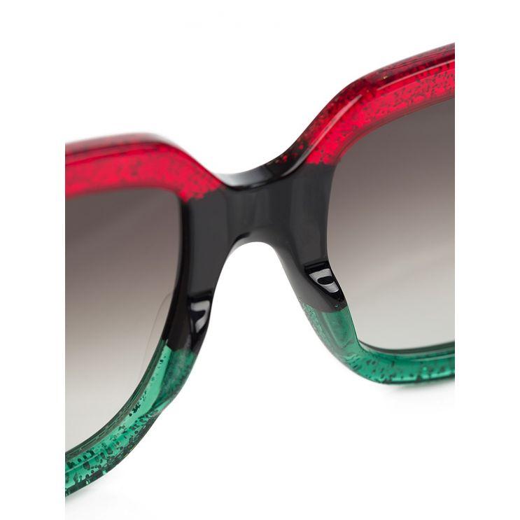 Gucci Black Over-sized  Sparkle Sunglasses