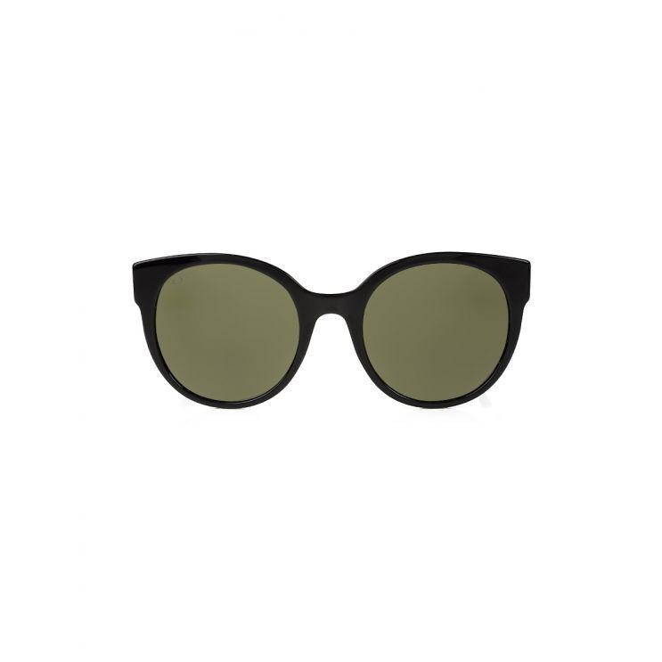 Gucci Black Rounded Side Sparkle Stripe Logo Sunglasses