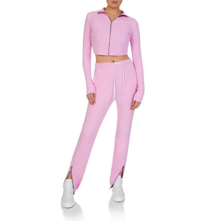Cotton Citizen Pink Ibiza Zip Top