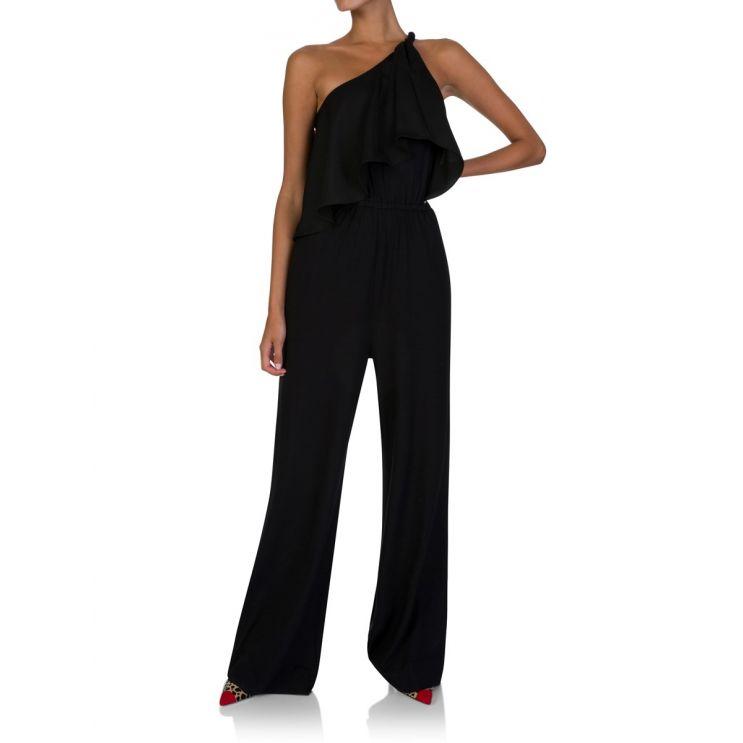 Diane Von Furstenberg Black Rosalyee Jumpsuit
