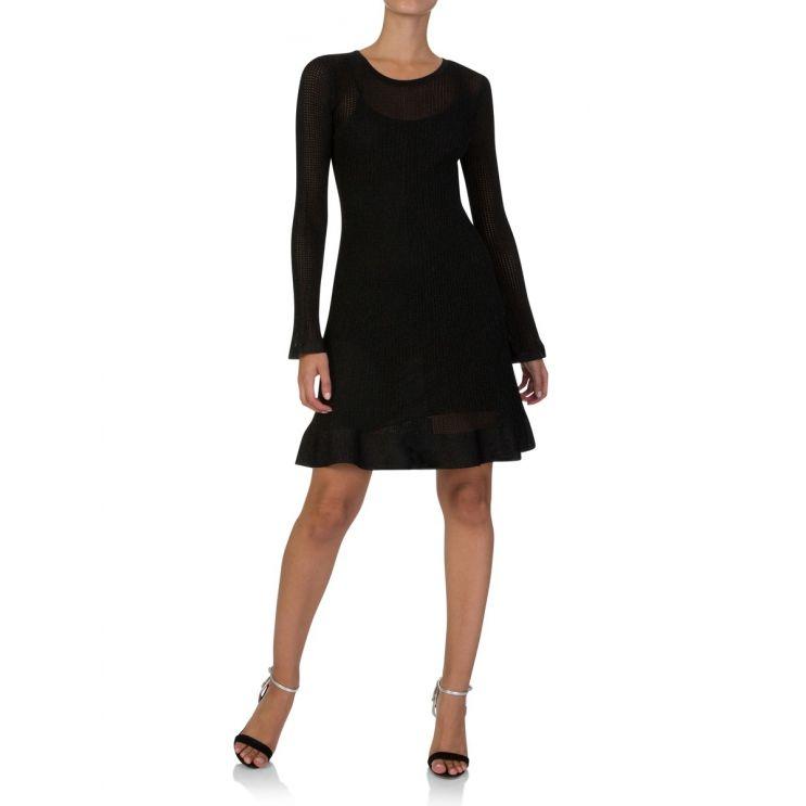 M Missoni Black Abito Lamé Dress