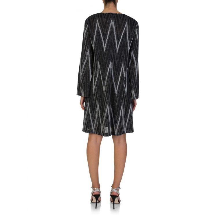 M Missoni Black Abito Zig Zag Dress