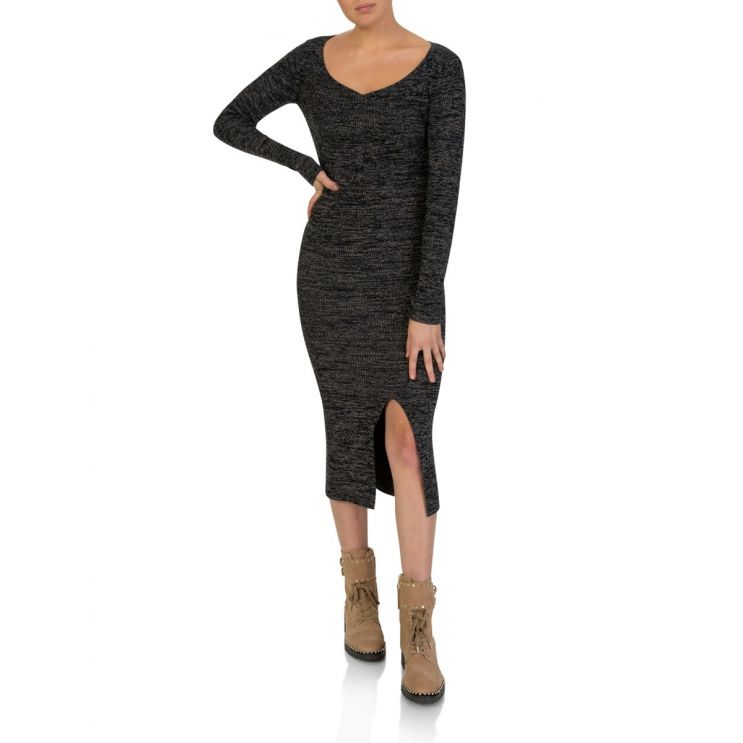M Missoni Black and Brown Knitted Dress