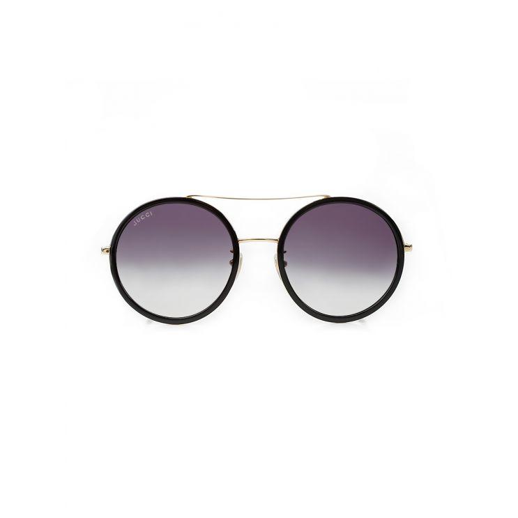 Gucci Round Black Sunglasses
