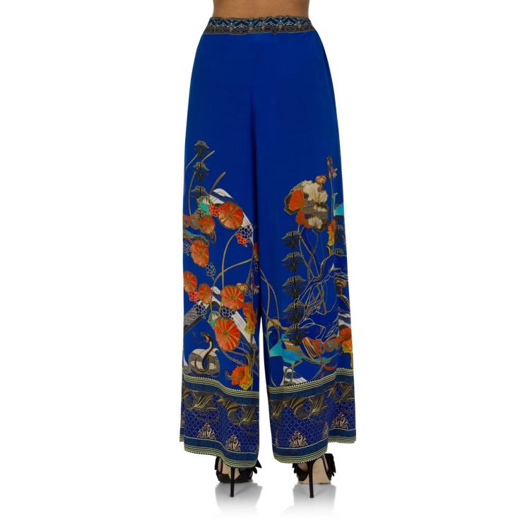 Camilla Blue Tree of Life Tie Waist Trousers